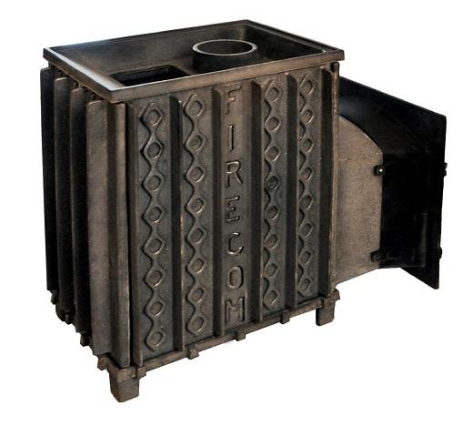 На снимке чугунная печь для бани