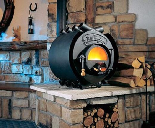 Газогенераторная печь на фото