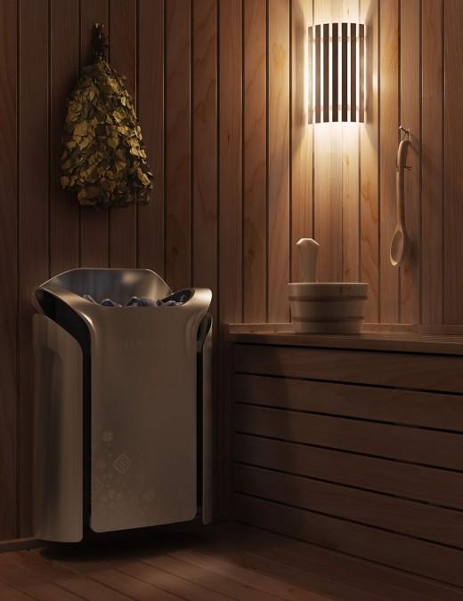 Электрическая печь для бани Термофор на снимке