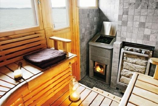На снимке газовая печь для бани