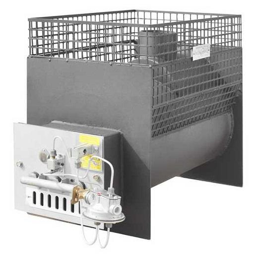 На фото представлена печь «Жара», работающая на газу