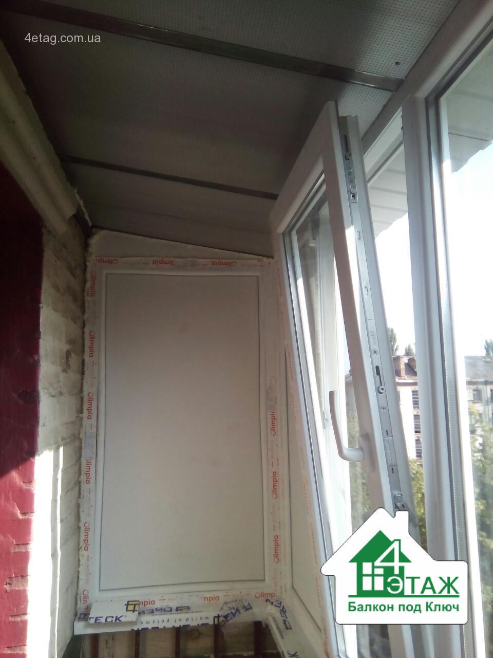 """Остекление балконов, лоджий компанией """"4 Этаж Балкон под ключ"""""""