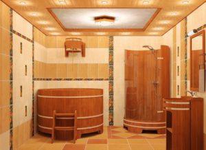 Мраморная плитка в отделке бани и сауны