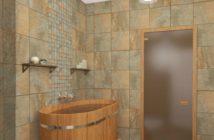 Мраморная плитка в отделке бани и сауны 2