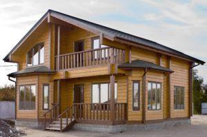 Строительство дома из профилированного бруса 2
