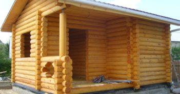 Строительство бани: сруб бани из рубленного бревна