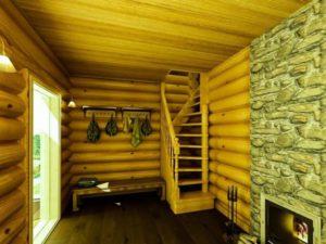 Лестницы для бань: подбор конструкции, материалов, дизайна